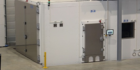camera climatica per grandi volumi